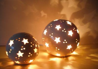 Leuchtkugel aus Ton