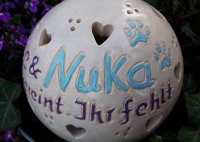 Gedenklampe für Haustiere